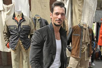 David Gandy is master of the suit and vest combination