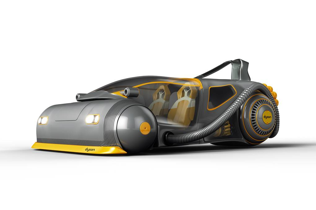 Dyson's design for its electric car, to be manufactured in Singapore. Image: British GQ