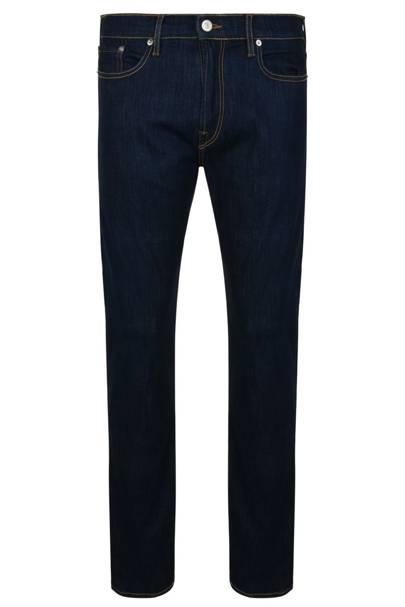 12. A pair of indigo slim-fit jeans