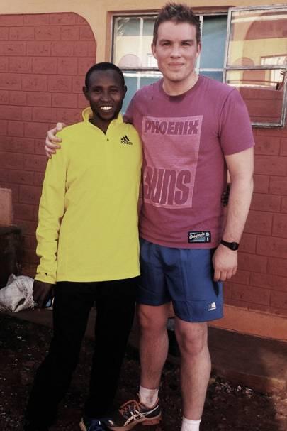 Running with marathon man Geoffrey Mutai
