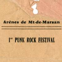 Andrew's original back stage pass for Mont De Marsan: the first Punk Rock Festival