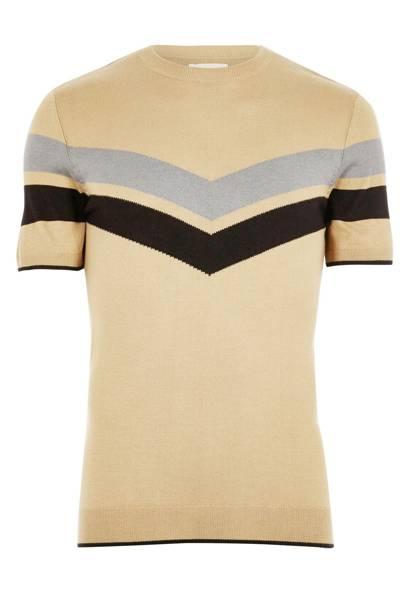 River Island stripe-panel T-shirt