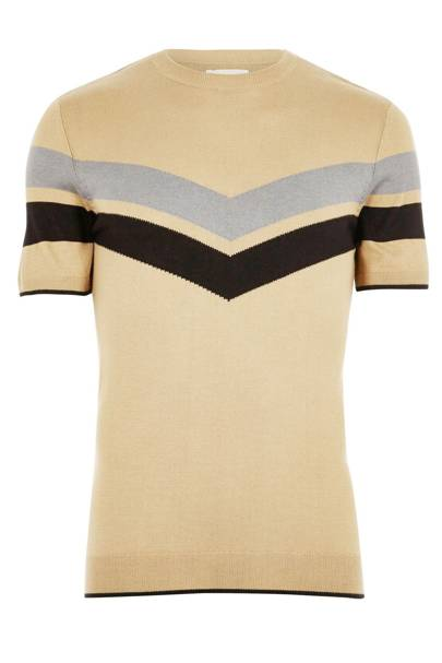 River Island stripe-panel T-shirt