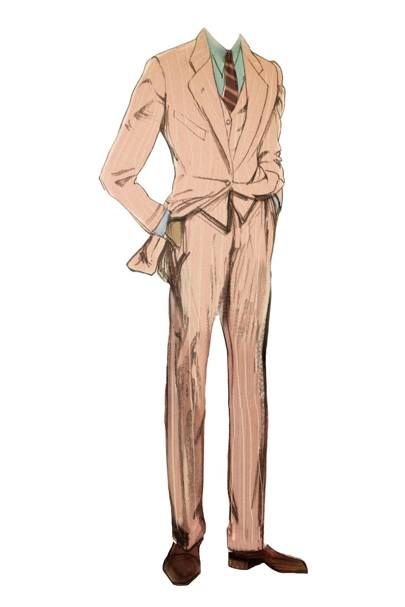 Jay Gatsby's pink linen suit