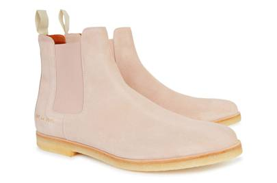Common Projects pink Chelsea boots