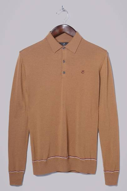 Peter Werth knitted long sleeve polo shirt