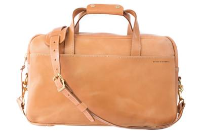No. 56 'Russet' Harness Leather Briefcase by Stock & Barrel