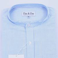 Fitz & Fro collarless cotton shirt