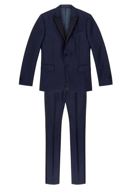 Valentino navy blue wool tuxedo