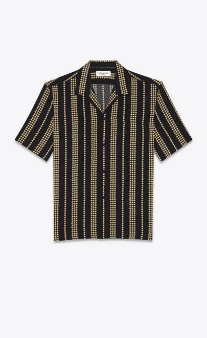 Shark collar shirt by Saint Laurent