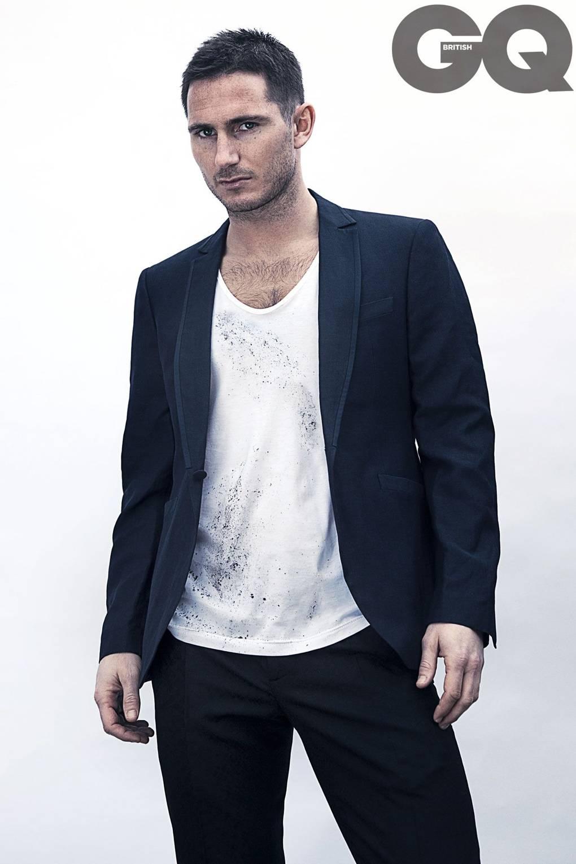 Frank Lampard Announces Retirement British Gq Black Blazer Jaket Korea Style Sk 15