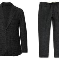 Charcoal Houndstooth Harris Tweed by Man 1924