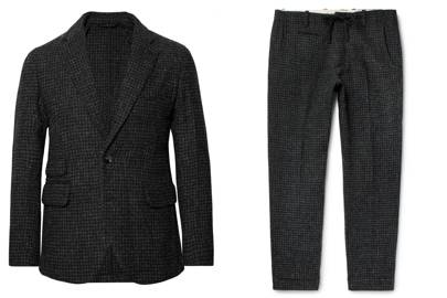 f1be6472124 Charcoal Houndstooth Harris Tweed by Man 1924