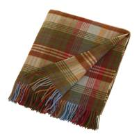 Ancient tartan lambswool blanket by Mulberry