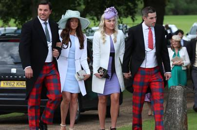 These Unnamed Guests Have Perhaps Taken Morning Dress Too Far Into The Realm Of Night Wear Pyjamas To Be Precise But Should Lauded For Effort