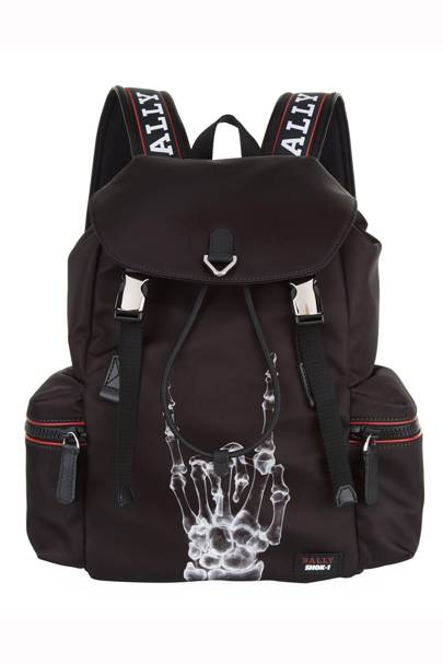 X Shok-1 Printed Backpack by Bally