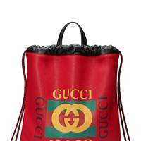 Drawstring leather backpack by Gucci