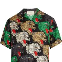 Silk bowling shirt by Gucci
