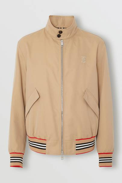 Gabardine Harrington Jacket by Burberry