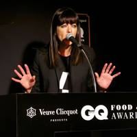 Claudia Winkleman on stage