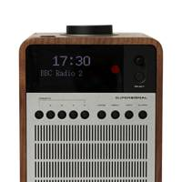 Supersignal walnut and aluminium digital radio by Revo