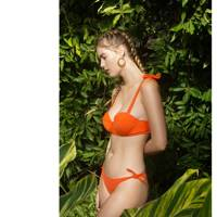 Becky Top and Sadie Bottom in Fire Coral by Daughters of Summer
