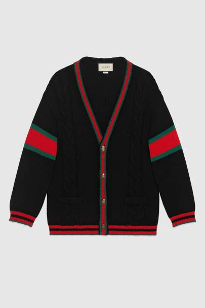 Oversize cable knit cardigan by Gucci