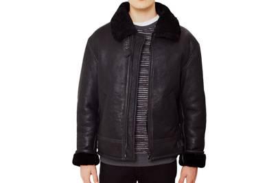 The Idle Man shearling flight jacket