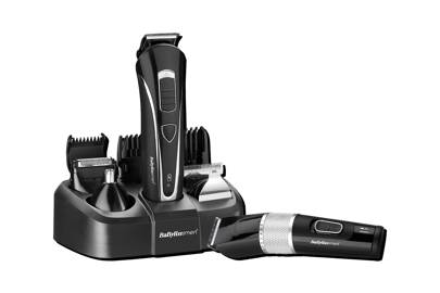 Carbon Steel Face And Body Trimmer and Carbon Steel Clipper by BaByliss For Men
