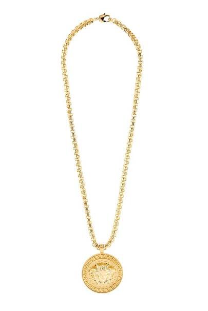 Large Medusa Medallion Necklace by Versace
