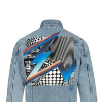 River Island x Felipe Pantone denim jacket