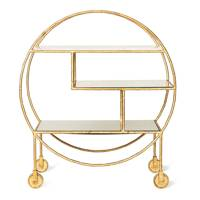 Luxe Round Bamboo Drinks Trolley by Oliver Bonas