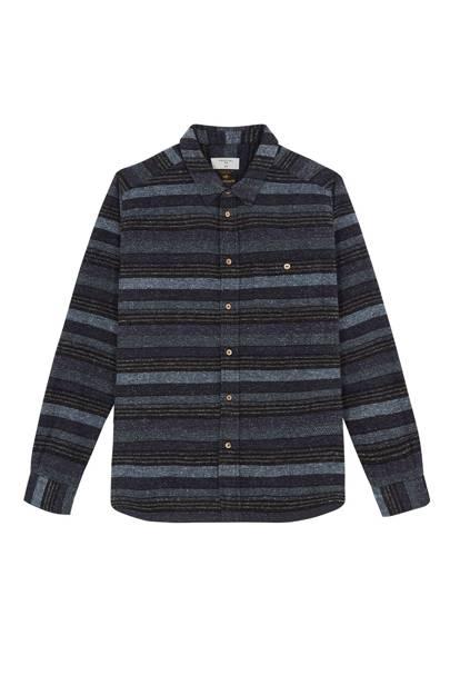 Percival navy 'Yozora Weave' shirt