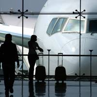 On aeroplanes or in airports?