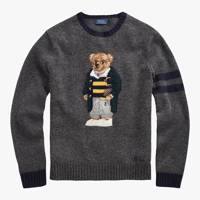 Polo Ralph Lauren Polo Bear Jumper, Grey Heather