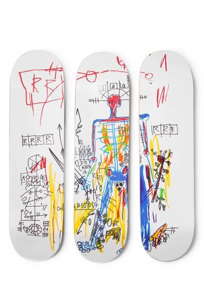 The Skateroom x Jean-Michel Basquiat skateboards