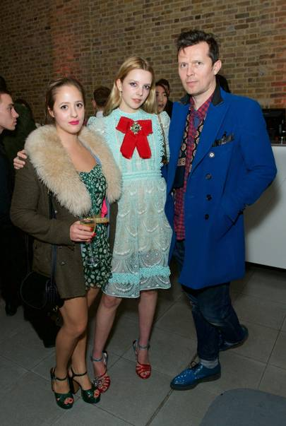 Georgina Mascolo, Greta Bellamacina and Robert Montgomery