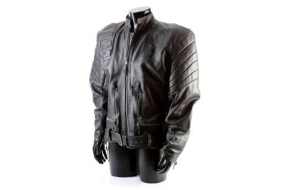 The Terminator's (Arnold Schwarzenegger) SFX Crane Chase Jacket from Terminator 3: Rise of the Machines (2003)