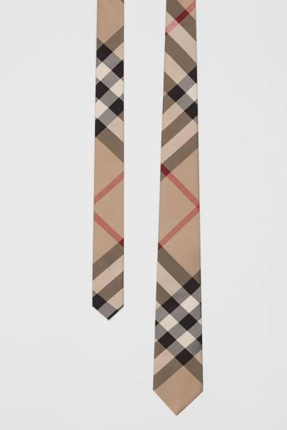Check tie by Burberry
