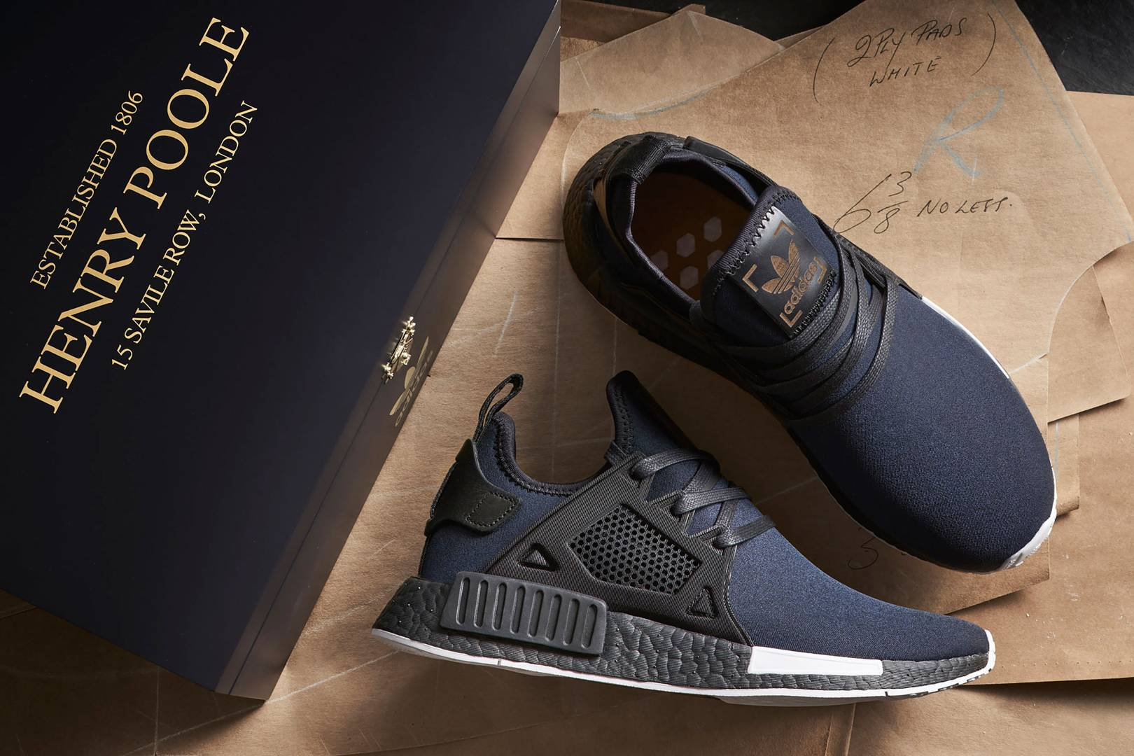 31ab7427b20b2 Adidas Originals x Henry Poole  Trainers with the Savile Row treatment