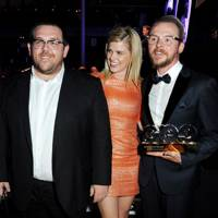 Nick Frost, Alice Eve and Simon Pegg