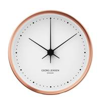 Koppel White And Copper Clock by Georg Jensen