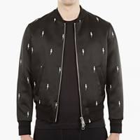 Neil Barrett lightning bolt bomber jacket