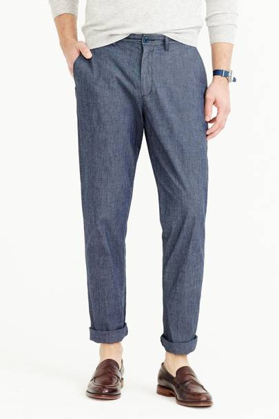 J Crew 770 chambray stretch chinos