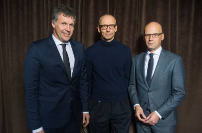 From left to right: Bernd Hake (Chief Sales Officer HUGO BOSS), Ingo Wilts (Chief Brand Officer HUGO BOSS) and Mark Langer (Chief Executive Officer HUGO BOSS)