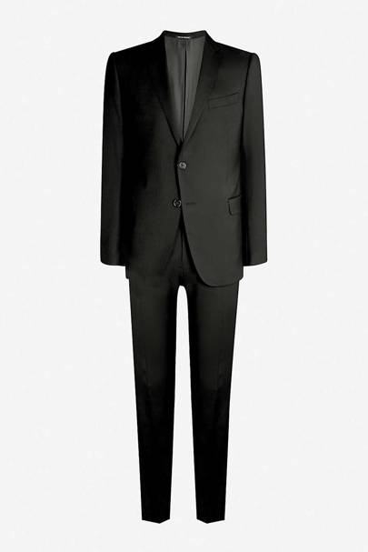 M-line stretch-wool suit by Emporio Armani