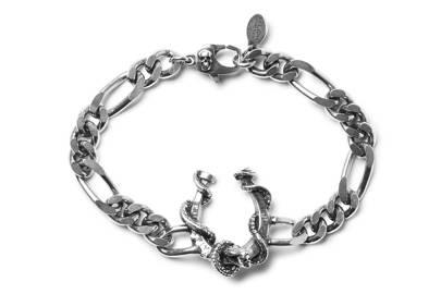 Silver-tone chain bracelet by Alexander McQueen