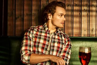 3ff51fd7ab7 Sam Heughan wearing Barbour shirts that keep you stylish