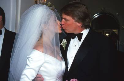 1993: Donald Trump marries Marla Maples