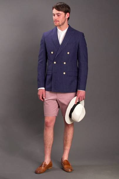 Here Jacob Shows How It S Possible To Use Traditional Tailoring Look Great At A Beach Wedding Grandad Collar Shirt Paired With Double Ted Suit
